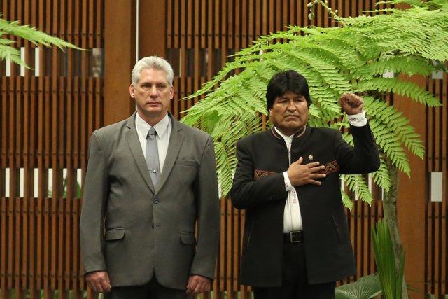 Miguel Díaz-Canel y Evo Morales
