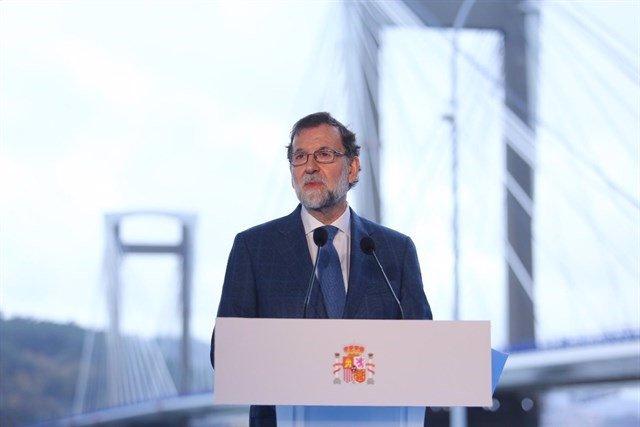 Rajoy, en la inauguración de Rande en diciembre