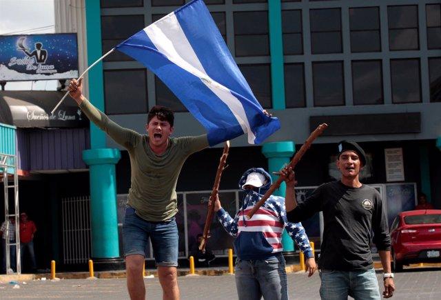 Manifestaciones en Managua contra el Gobierno de Daniel Ortega