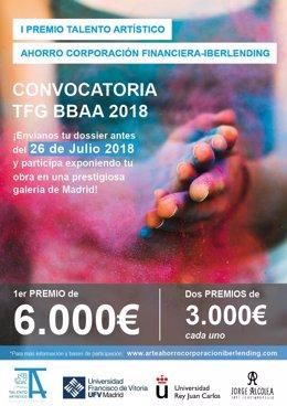 Ahorro Corporación Financiera y ACF Iberlending lanzan el I Premio Talento Artís