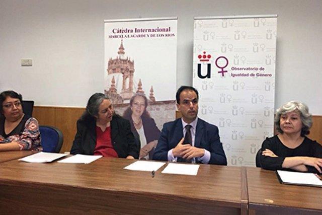 El rector de la URJC Javier Ramos durante un acto en la universidad