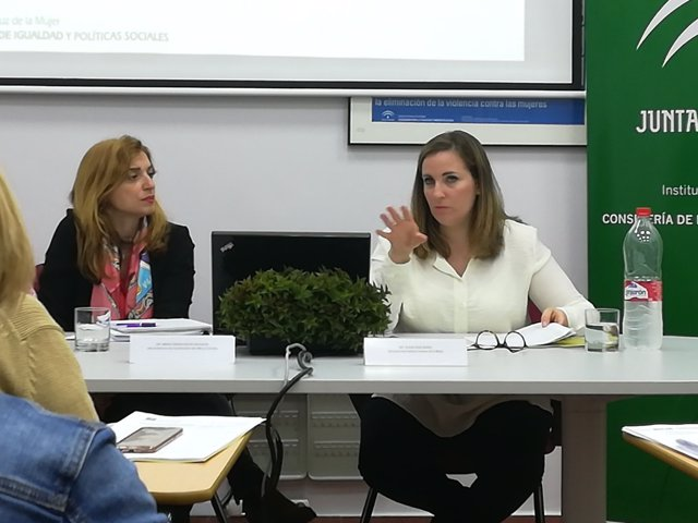Elena Ruiz, durante la presentación