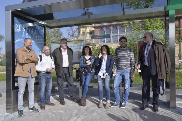 Inauguración de la conexión gratuita al centro en autobús desde Trinitarios
