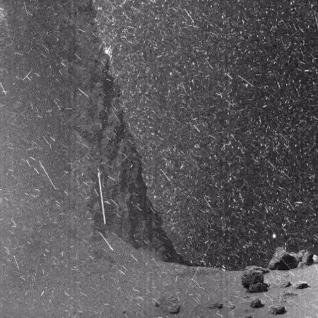 Imagen desde la superficie del cometa 67P