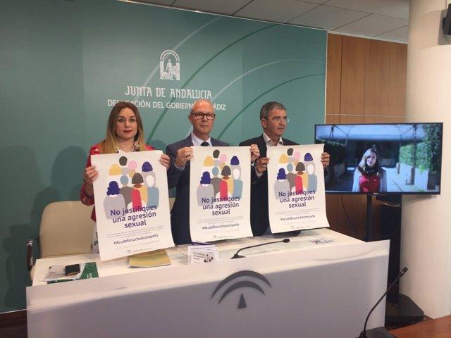 El delegado de la Junta en Cádiz, Juan Luis Belizón, presenta la campaña del IAM