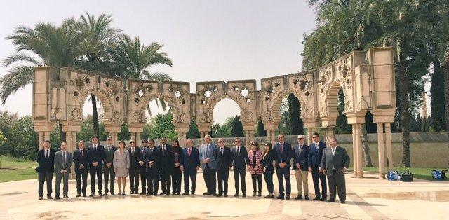 Miembros del Consejo de Embajadores Árabes en la Fundación Tres Culturas