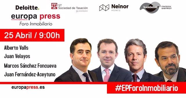 Portadilla previa I Foro Inmobiliario Europa Press (mayo 2018)