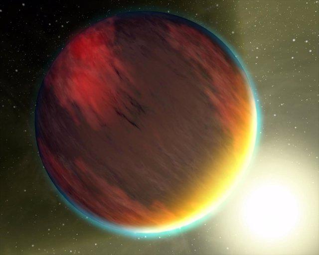 Recreación de un Júpiter caliente