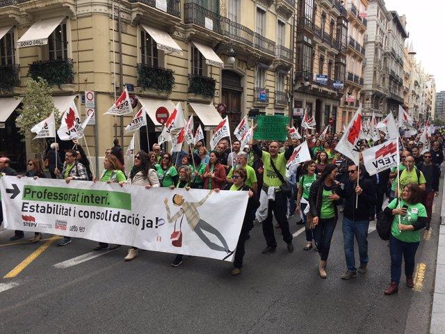 Manifestació interins València