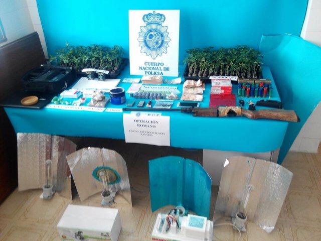 Droga incautada tras un operativo policial en Linares
