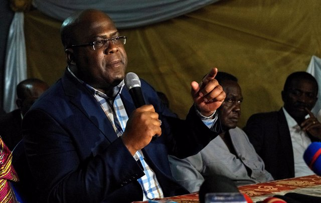El líder del partido opositor UDPS de RDC, Felix Tshisekedi
