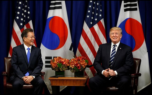 Trump y Moon mantendrán un encuentro antes de la cumbre de EEUU y Corea del Norte