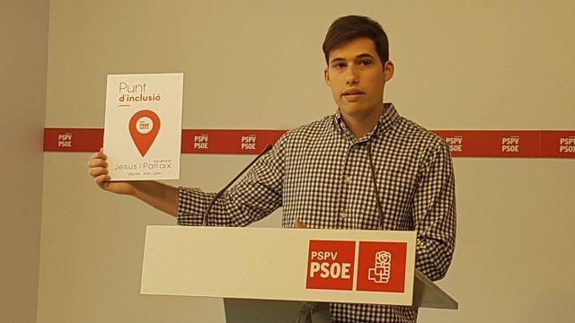 Borja Sanjuan, portavoz del PSPV-PSOE en València