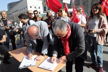 """Los sindicatos animan a seguir con las movilizaciones de pensionistas para conseguir """"más avances"""" en el Pacto de Toledo"""