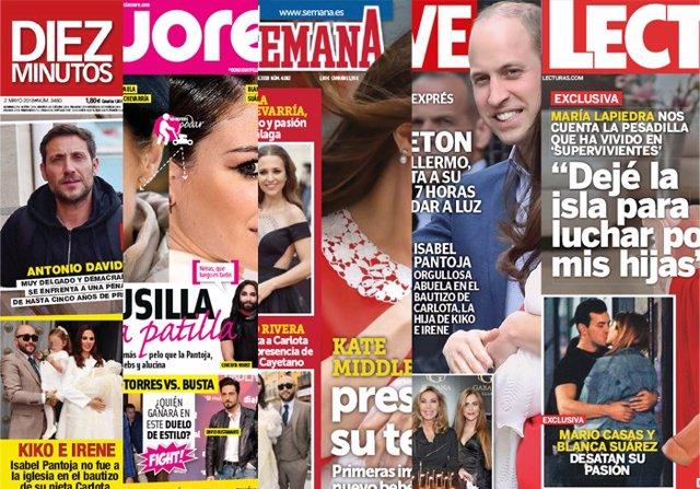El nuevo miembro de la Familia Real Británica, el beso de Blanca Suárez y Mario Casas y el bautizo de Carlota Rivera