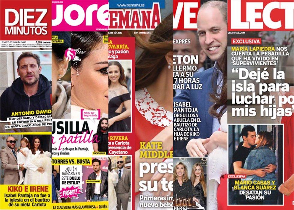 PORTADAS REVISTAS DEL CORAZÓN 25 DE ABRIL