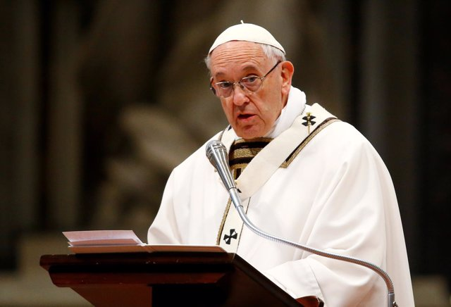 FILE PHOTO: Pope Francis leads the Chrism Mass on Holy Thursday during which sac