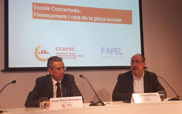 Josep Maria Romagosa (CCAPAC) y Josep Manuel Prats (Fapel)