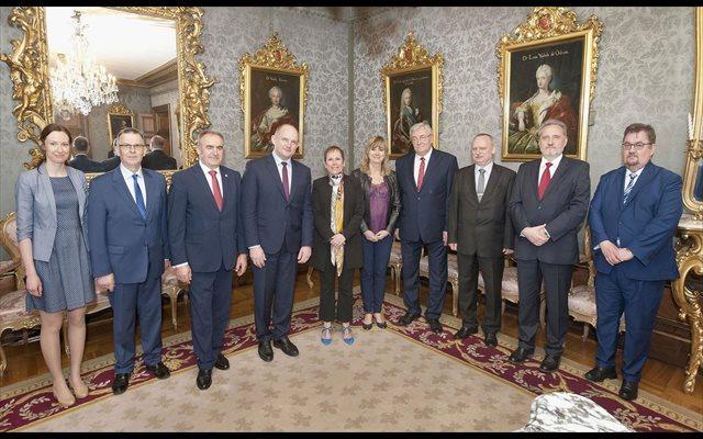 Barkos recibe a una delegación de la región polaca de Kujawsko- Pomorskie