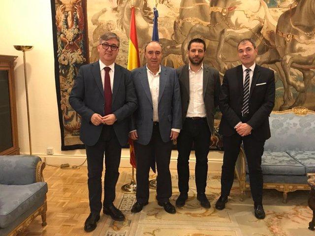 Representantes de ANPE, con el secretario de Estado de Educación, Marcial Marín
