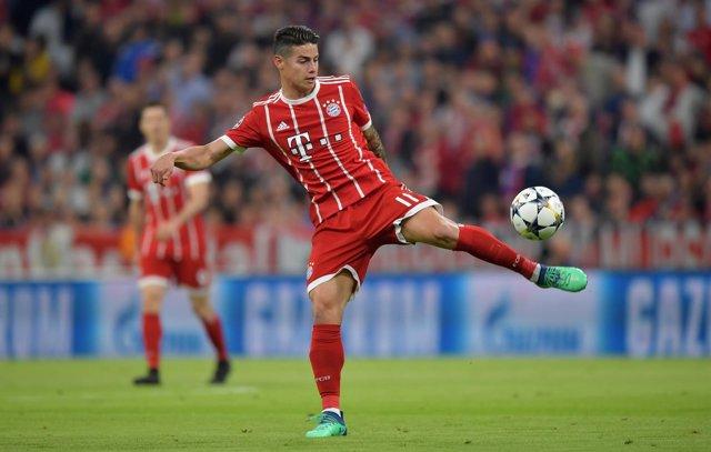 El jugador del Bayern Múnich James Rodríguez