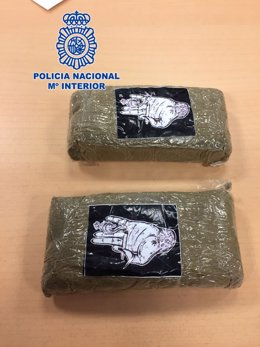 Cocaína intervenida en una operación de la Policía Nacional
