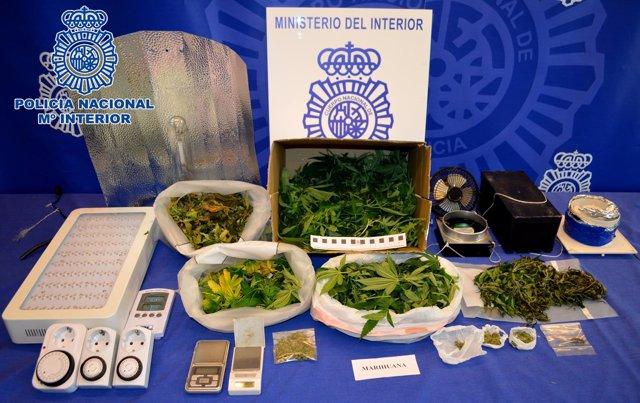 Droga incautada por la Policía en Logroño