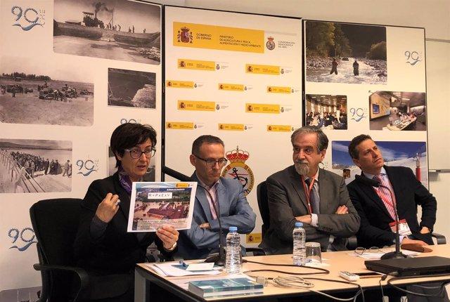 Moreno, Galván, Embid y Jiménez han presentado las Jornadas Derecho de Aguas