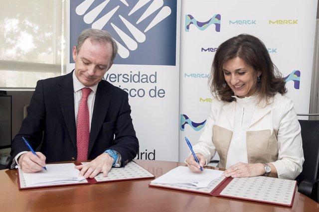 La UFV y Merck firman un acuerdo para crear una cátedra de inmunología