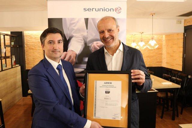 Serunion, reconocida con la certificación IQNet SR10 de AENOR por su buen gobier