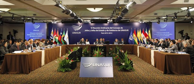 South American leaders attend the summit of the Union of South American Nations