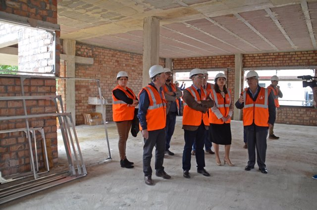 Obras del nuevo aulario del IES 'La Bahía'