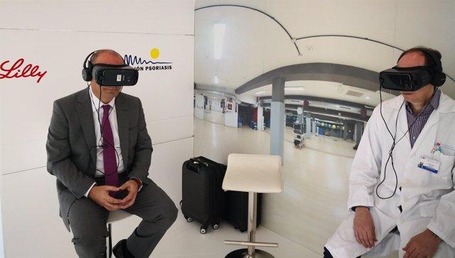 Realidad virtual en el Puerta de Hierro para mostrar el impacto de psoriasis