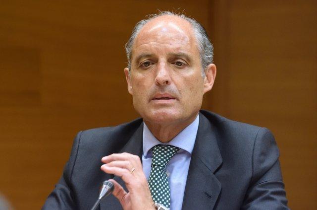 L'expresident Francisco Camps, en la seua intervenció en Les Corts