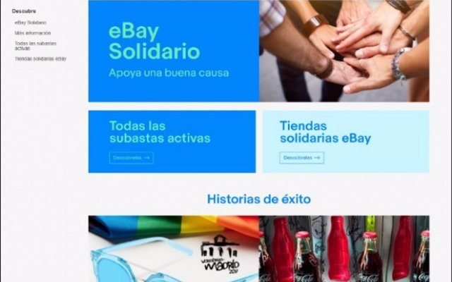 Se presenta 'eBay Solidario', para ayudar a ONG a través de subastas solidarias