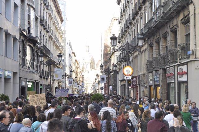Manifestación contra la sentencia de 'La manada'.