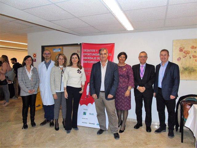 Participantes en la jornada sobre las enfermedades raras de la SEFH y la SMFH