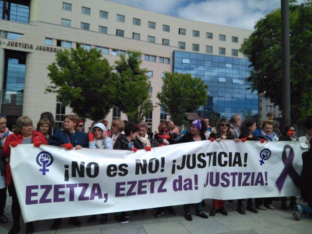 Concentración con motivo de la sentencia por el juicio a 'La Manada'