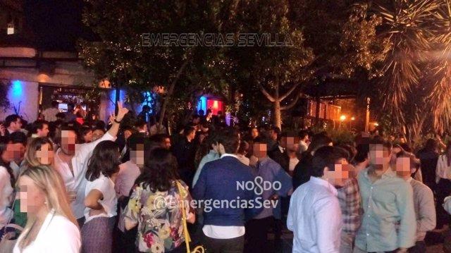 Desalojo del bar Chile de Sevilla