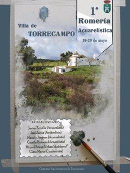 Cartel de la I Romería Acuarelística