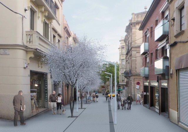 La remodelación de la calle Major de Sarrià