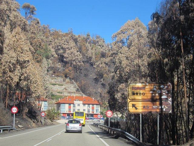 Incendio de As Neves en octubre de 2017