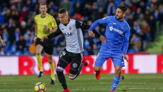 Rodrigo (Valencia) contra el Getafe