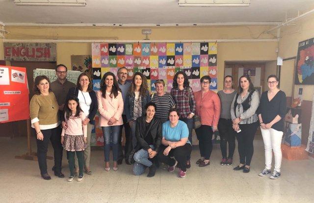 Caballero visita el CEIP Antonio Machado
