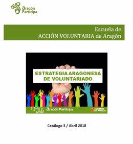 Tercer Catálogo de la Escuela de Acción Voluntaria de Aragón.
