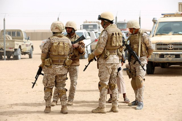 Tropas saudíes en Yemen