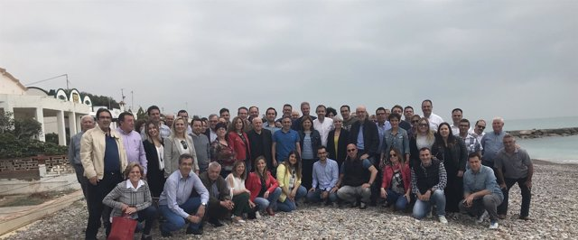 Encuentro de Bonig con militantes en Moncofa