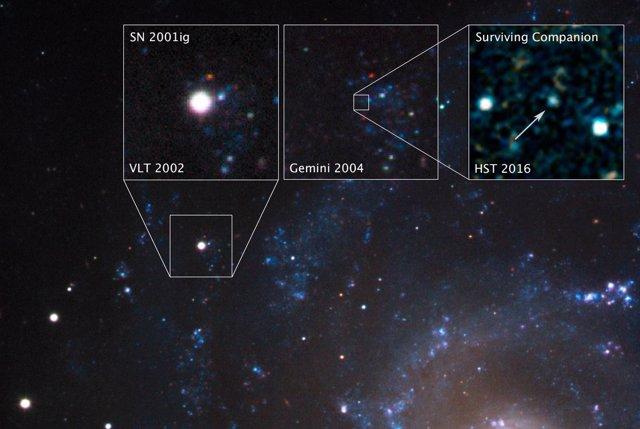 Seguimiento en el tiempo del remanente de supernova en NGC 7424