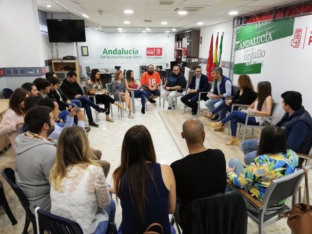 Reunión jóvenes Benalmádena PSOE