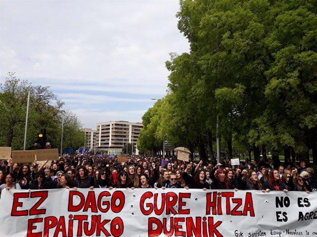 Manifestación en Pamplona contra la sentencia a 'La Manada'